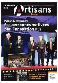 Une du Monde des Artisans 104 Edition de l'Aisne