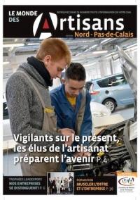 Une du Monde des Artisans 104 Edition du Pas-de-Calais