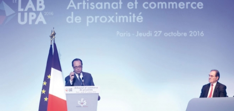 François Hollande au Lab UPA 216