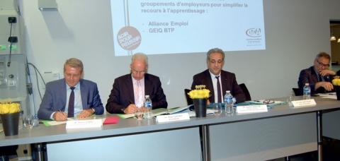 Pierre Lobry, Alain Griset et Karim Khetib.
